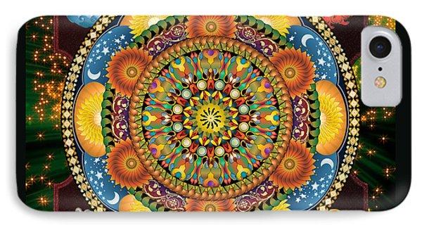 Mandala Elements IPhone Case by Bedros Awak