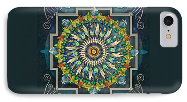 Mandala Night Wish Phone Case by Bedros Awak