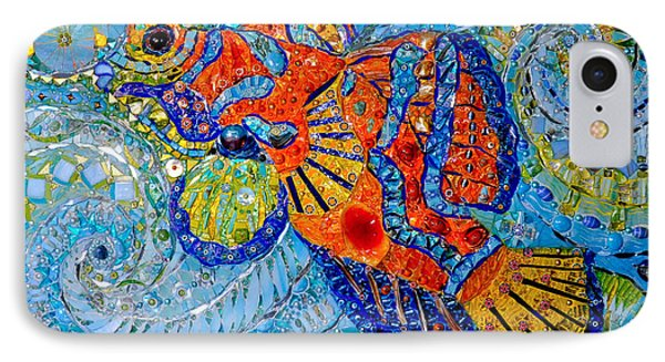 Mandarin Fish, 2013 Mosaic IPhone Case by Maylee Christie