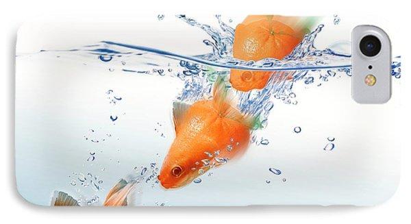 Mandarin Turning Into Gold Fish IPhone Case by Leonello Calvetti