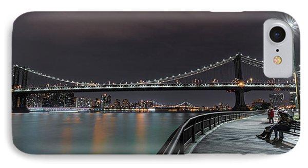 Manhattan Bridge - New York - Usa 2 IPhone 7 Case by Larry Marshall