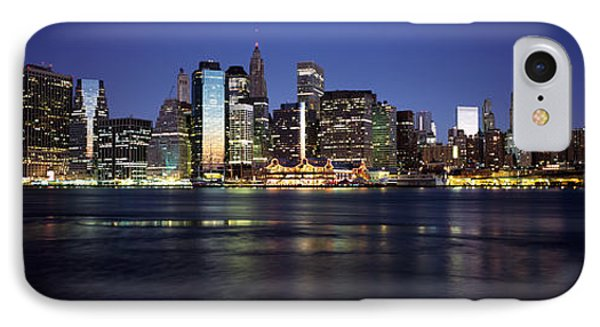 Manhattan Skyline Seen From Fulton IPhone Case by Panoramic Images