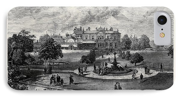 Manley Hall The New Public Park For Manchester 1880 IPhone Case by English School