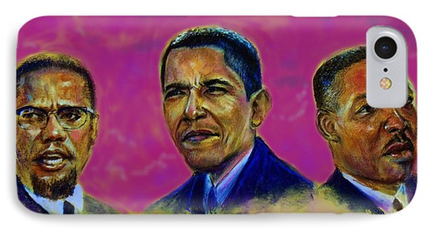 M.a.n...malcolm- Obama- Martin Phone Case by Tommy  Winn