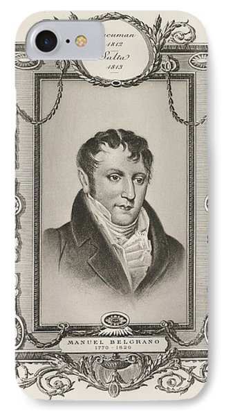 Manuel Belgrano IPhone Case by British Library