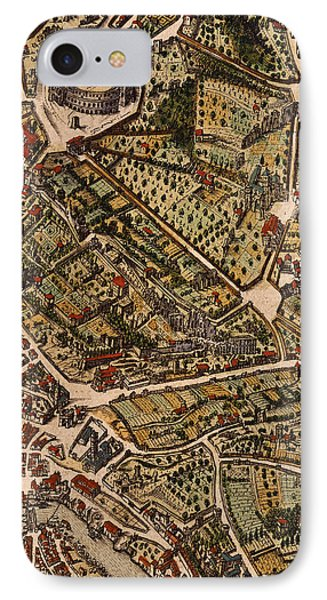 Map Of Rome IPhone Case by Joan Blaeu