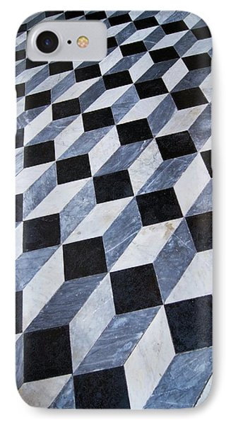 Marble Patterned Floor IPhone Case by Mark Williamson