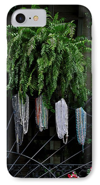 Mardi Gras Beads New Orleans Phone Case by Christine Till
