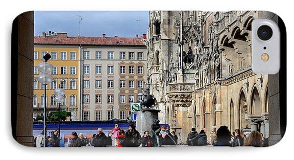 Mareinplatz And Glockenspiel Munich Germany Phone Case by Imran Ahmed