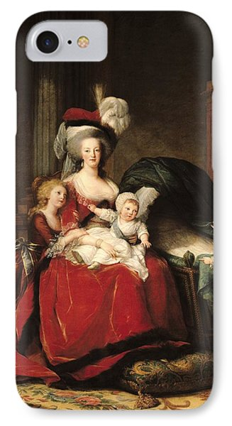 Marie Antoinette And Her Children IPhone Case by Elisabeth Louise Vigee-Lebrun