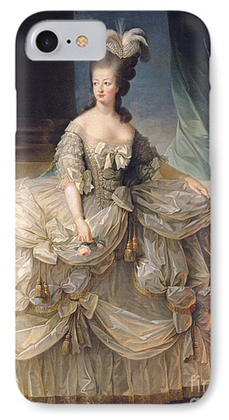Marie Antoinette Queen Of France IPhone Case by Elisabeth Louise Vigee-Lebrun