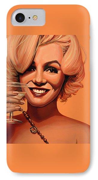 Marilyn Monroe 5 IPhone 7 Case by Paul Meijering