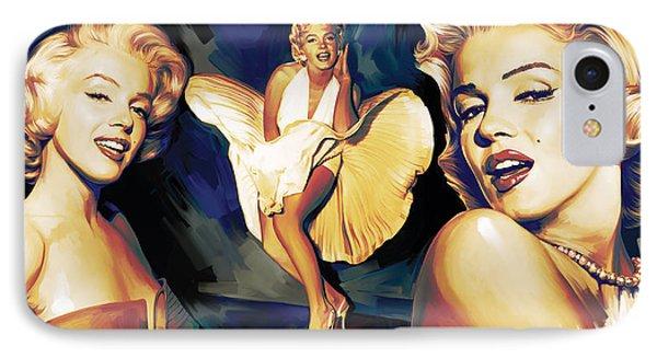 Marilyn Monroe Artwork 3 IPhone Case by Sheraz A
