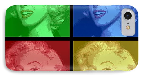 Marilyn Monroe Colored Frame Pop Art IPhone Case by Daniel Hagerman