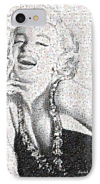 Marilyn Monroe In Mosaic Phone Case by Angela A Stanton