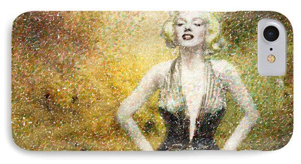 Marilyn Monroe In Points Phone Case by Angela A Stanton