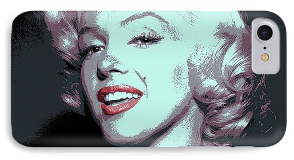 Marilyn Monroe Pop Art IPhone Case by Daniel Hagerman