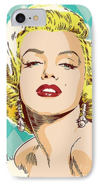 Marilyn Monroe Pop Art IPhone Case by Jim Zahniser