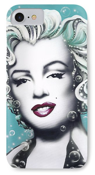 Marilyn Monroe Turquoise Phone Case by Alicia Hayes