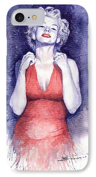 Marilyn Monroe IPhone 7 Case by Yuriy  Shevchuk