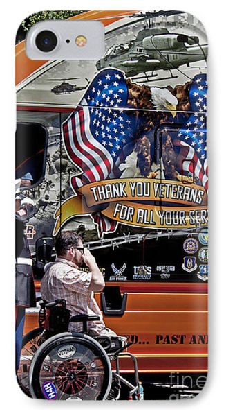 Marine And Wounded Warrior IPhone Case by Tom Gari Gallery-Three-Photography