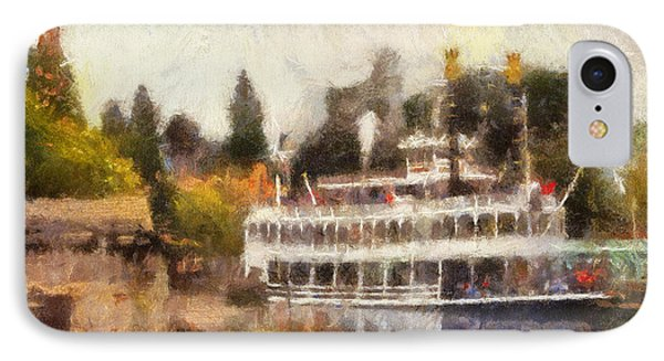 Mark Twain Riverboat Frontierland Disneyland Photo Art 02 IPhone Case by Thomas Woolworth