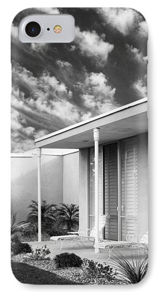 Marrakesh Lounge Bw Palm Springs IPhone Case by William Dey
