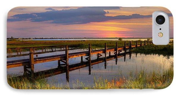 Marsh Harbor IPhone Case by Debra and Dave Vanderlaan