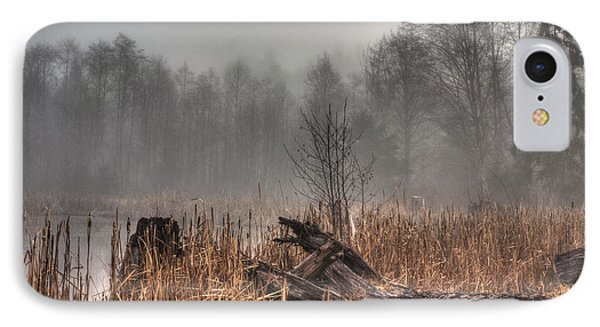 Marsh In Fog IPhone Case by Randy Hall