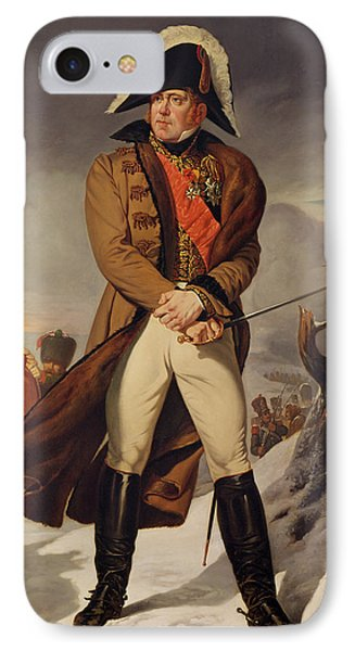 Marshal Michel Ney 1769-1815 Duke Of Elchingen Oil On Canvas IPhone Case by Eugene Battaille