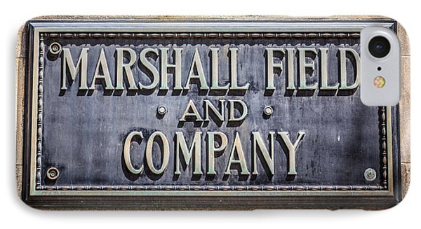 Marshall Field And Company Sign In Chicago Phone Case by Paul Velgos