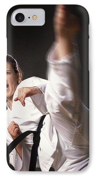 Martial Arts Kick Phone Case by Don Hammond