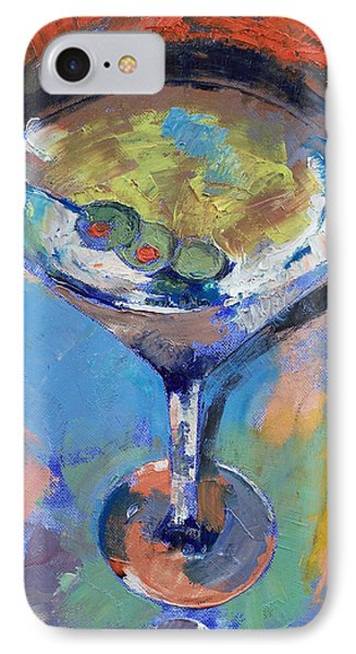 Martini Oil Painting IPhone 7 Case by Michael Creese