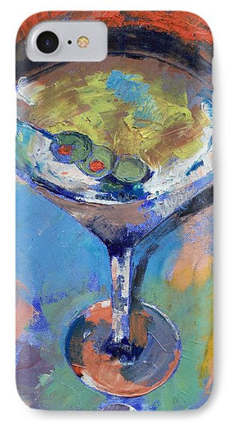 Martini Oil Painting IPhone Case by Michael Creese