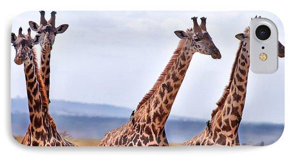 Masai Giraffe IPhone 7 Case by Adam Romanowicz
