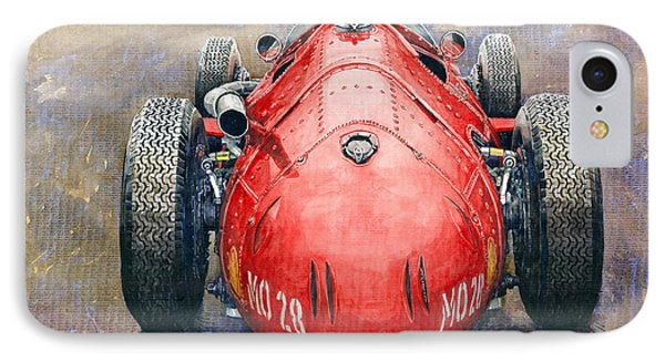 Maserati 250f Back View IPhone Case by Yuriy Shevchuk