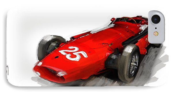 Maserati 250f IPhone Case by Roger Lighterness