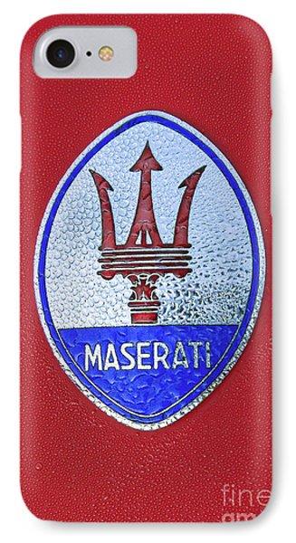 Maserati Emblem IPhone Case by Dennis Hedberg