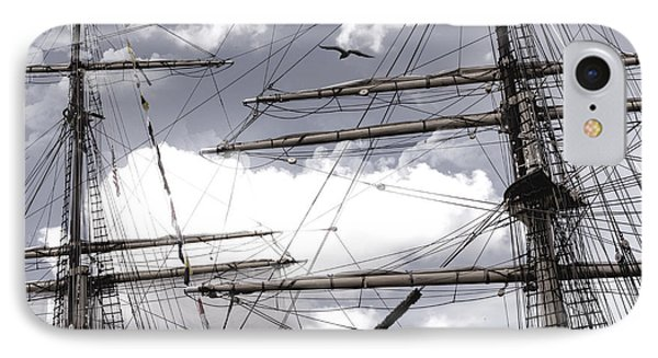 Masts Of Sailing Ships Phone Case by Evie Carrier