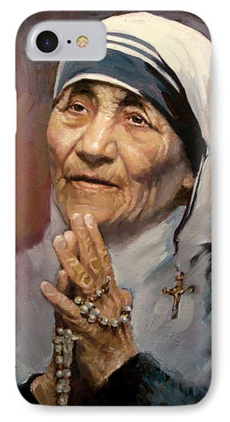Mather Teresa IPhone Case by Ylli Haruni