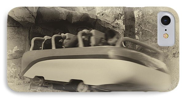 Matterhorn Bobsled Fantasyland Disneyland Heirloom IPhone Case by Thomas Woolworth
