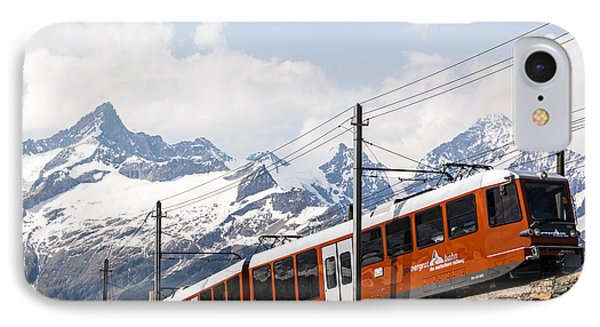 Matterhorn Railway Zermatt Switzerland Phone Case by Matteo Colombo