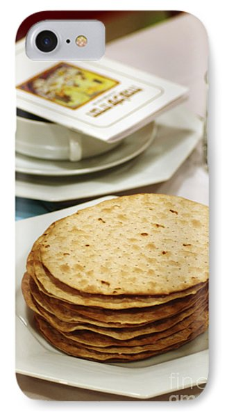 Matza And Haggada For Pesach Phone Case by Ilan Rosen