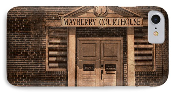 Mayberry Courthouse IPhone Case by David Arment