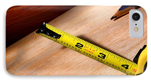 Measure Twice IPhone Case by Olivier Le Queinec