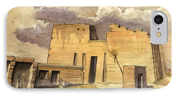 Medinet Temple Egypt IPhone Case by Juan  Bosco