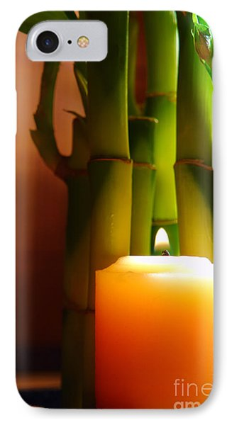 Meditation Candle And Bamboo Phone Case by Olivier Le Queinec