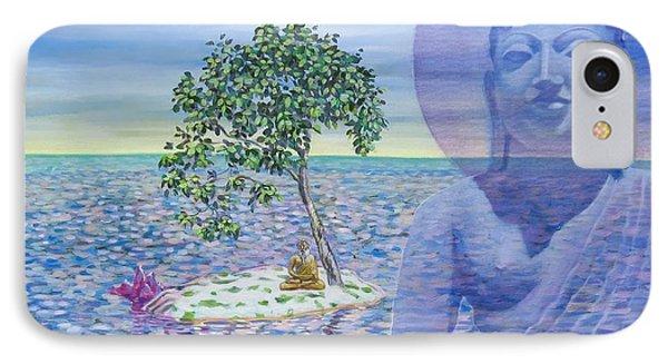 Meditation On Buddha Blue Phone Case by Dominique Amendola