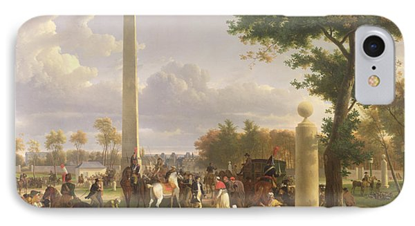 Meeting Between Napoleon I And Pope Pius Vii IPhone Case by Alexandre Hyacinthe Dunouy