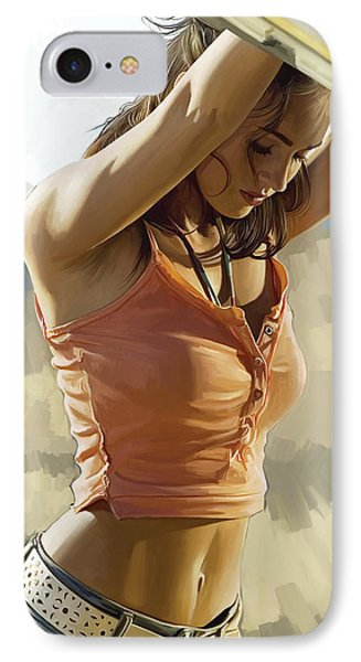 Megan Fox Artwork IPhone Case by Sheraz A